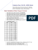 Calculate Size of Contactor CB FUSE OLR
