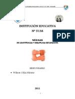Normas Convivencia Disciplina Estudiantil w Celiz m