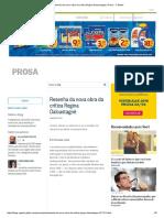Resenha Da Nova Obra Da Crítica Regina Dalcastagnè _ Prosa - O Globo