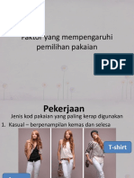 Faktor Yang Mempengaruhi Pemilihan Pakaian