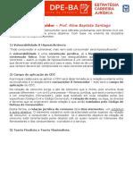 Direito Do Consumidor DPE BA
