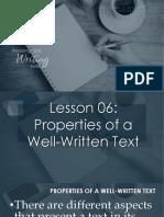 Properties of a Well-written Text