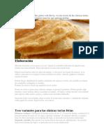 Receta Torta Fritas