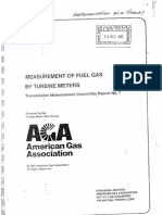 AGA 7 - Measurement of Fuel Gas by Turbine Meters - Transmission Measurement Committee Report No. 7 1981