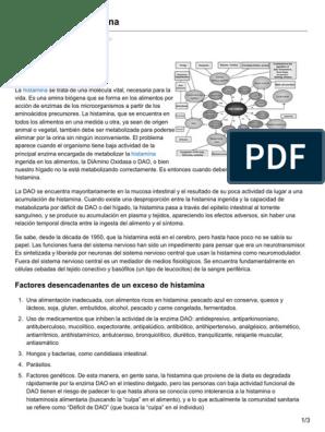 Dieta baja en histamina pdf