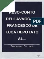 Resoconto Dell'Avvocato de Luca