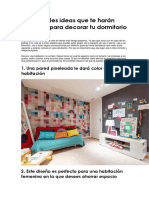Tips de como decorar tu habitación..