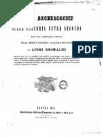 Luigi Grimaldi Studi Archeologici Calabria Ultra 1845