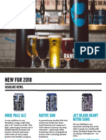 Brewdog Range Planner 2018 Bars and Online