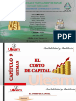 Exposición Capítulo Nº 9 Gitman El Costo de Capital