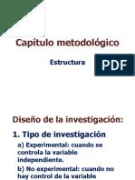 Estructura del cap+¡tulo metodol+¦gico