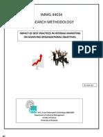 Impact of internal marketing to achieve organizational objectives