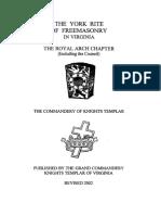 The York Rite of Freemasonry in Virginia