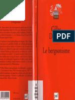 Deleuze Gilles Le Bergsonisme