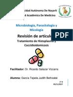 Tratamiento histoplasma y coccidioidomicosis