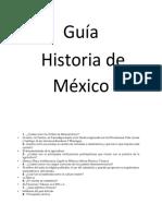 Guía básica  de Historia de México