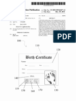 DNA Enabled Birch Certificate U.S. Patent US20110316267 A1