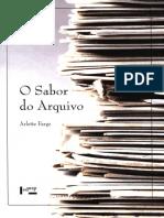 Arlette Farge - O Sabor Do Arquivo