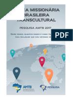 Pesquisa AMTB Forca Missionaria Brasileira