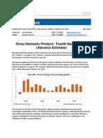 GDP 4th Quarter 2017 BSE - Note Table 2 Line 50 Import Adjustment