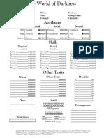 NWOD Plain Sheet