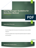 Hiring Manager Guideline for Selection Method