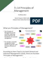 Fayol's 14 Principles of Management_Prof Bhisma Murti