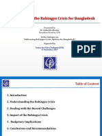 Presentation on Implications of the Rohingya Crisis for Bangladesh