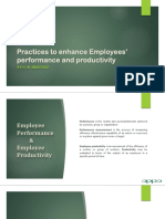 Practices to Enhance Employees' Performance and Productivity