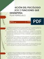 Definición Del Psicólogo Clínico y Funciones Que Desempeña. Inv España (1)