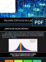 Valores criticos en laboratorio