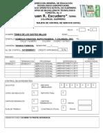 9.-Tarjeta de Control de Servicio Social