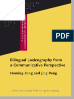 Yong-Peng - Bilingual Lexicography From a Communicative Persp