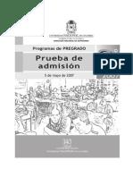 II 07 Examen Admision Universidad Nacional