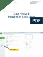 Data Analysis Installation