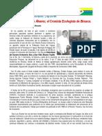 Cronicas de Historia Crdh-007 2016 . Don Luis Álvarez, El Cronista Ecologista de Biruaca