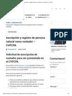 Inscripción y Registro de Persona Natural Como Contador en CVPCPA