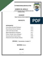 FORMULACIÓN DE PROYECTOS DE COMERCIALIZACIÓN INTERNACIONAL