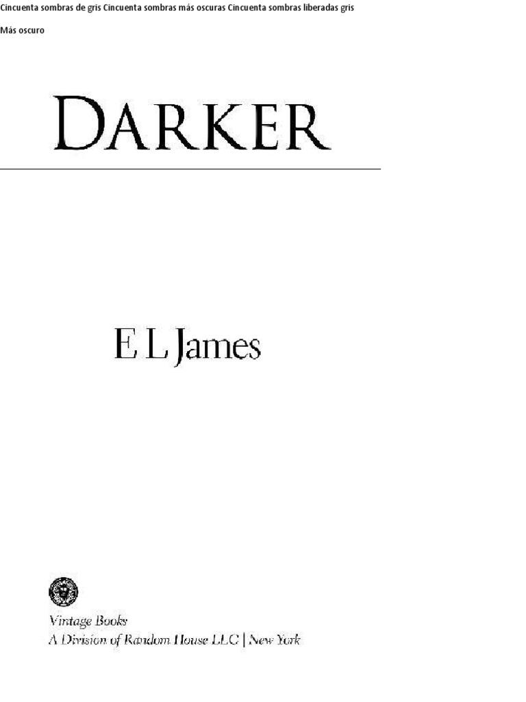 e.l. James - Mas Oscuro