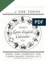 1955 Latin Calendar