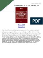Bases Da Parasitologia Médica 3ª Ed 2011