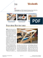 Fold Away Router Table