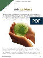 ¿Qué Es Ambiente_ - Su Definición, Concepto y Significado