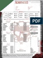 Ancient Bloodline - Adroanzi Sheet