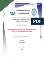 Informe modular 2 Educación Inicial