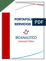 Portafolio de Servicios Bioanalitico