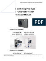 Swimming Pool Type Heat Pump Water Heater Technical Manual