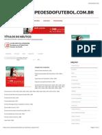 Todos os títulos do Náutico de Recife (PE)