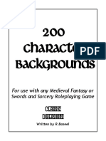 200 Character Backgrounds