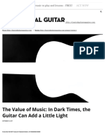 The Value of Music- In Dark Times, The ... Add a Little Light – Classical Guitar